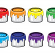 Paint Cans — Stock Vector
