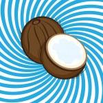 Ripe coconut — Stock Vector