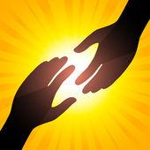 Solar handshake — Stock Vector