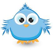 Cartoon blue sparrow — Stock Vector