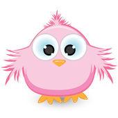 Cartoon pink sparrow — Stock Vector