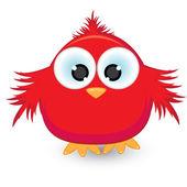 Cartoon red sparrow — Stock Vector