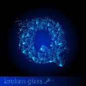 Una carta de los cristales rotos — Vector de stock