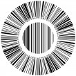 Abstract circular bar code - Stock Vector