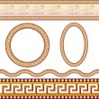 Stock Vector: Greek border patterns