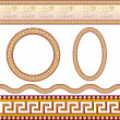 Greek border patterns — Stock Vector