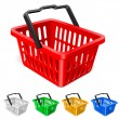 Colorful shopping basket — Imagen vectorial