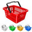 Colorful shopping basket — Image vectorielle