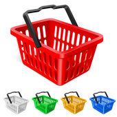 Kleurrijke winkelmandje — Stockvector