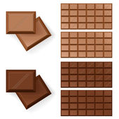 Chocolate bars — Stock Vector