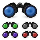 Set of realistic binoculars — Stock Vector