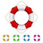 Set of life buoys — Stock Vector #6077964