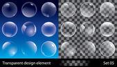 Průhledné bubliny — Stock vektor