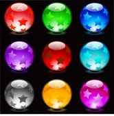 Glossy spheres — Stock Vector