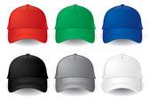 Vector de gorras de béisbol — Vector de stock