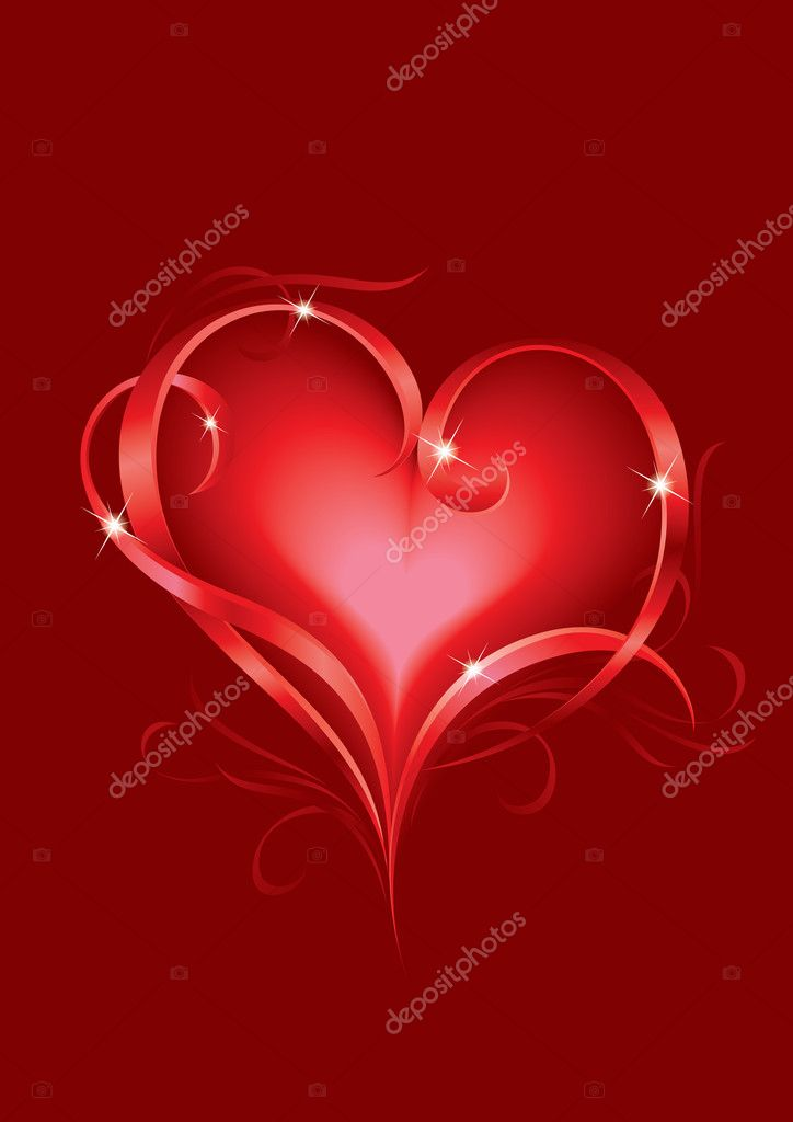 Valentine's day greeting card with abstract Hearts — Stock Vector #6104237