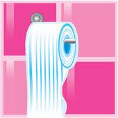 Azul rollo de papel higiénico — Vector de stock