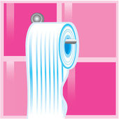 Bleu rouleau de papier toilette — Vecteur