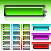 Zestaw baterii — Wektor stockowy