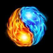 Symbol of yin and yang — Stock Vector