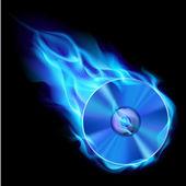 Gravação de cd azul — Vetorial Stock