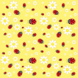 Royalty-Free Stock Vector Image: Seamless ladybug pattern