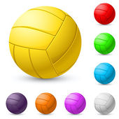 Multi-colored volleyball realiste — Stock Vector