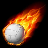 Fire volleyball — Stock Vector