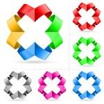 Set of ribbons — Stock Photo