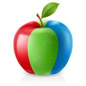 Rgb pyszne jabłko — Wektor stockowy