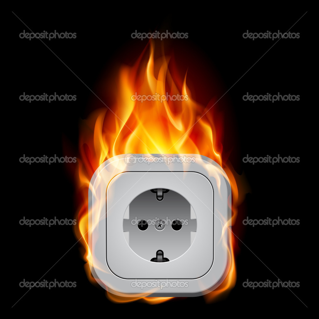 Electrical Outlet Fire Clip Art on electric socket burn.