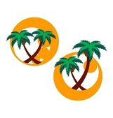 Two icons with palm trees — Stock Vector