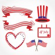 American flag stylized background — Stock Vector