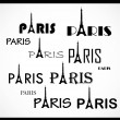 Paris. text — Stock Vector #6152403