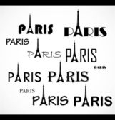 Paris. text — Stock Vector
