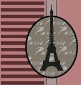 Background with tour Eiffel — Stock Vector