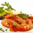 Stock Photo: Shrimp in tomato sauce