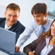 Stock Photo: Working business team