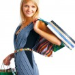 Smiling shoping woman — Stock Photo #5482587