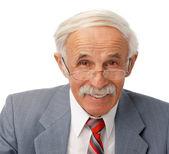 Retrato de um homem mais velho feliz — Foto Stock