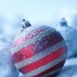 Christmas ornament on blured background — Stock Photo