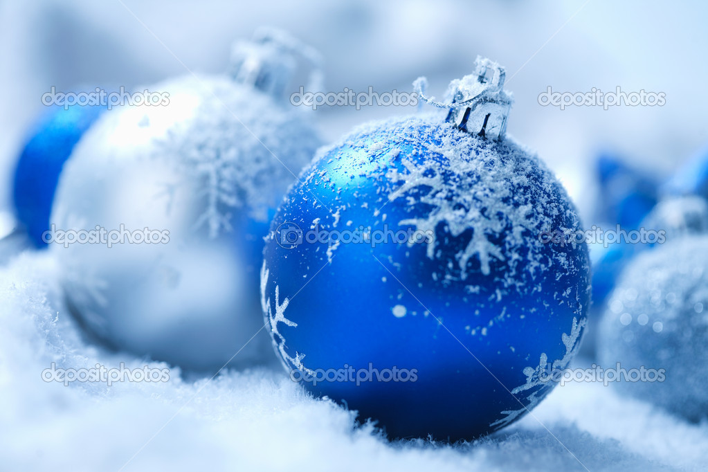 Christmas ornament on  blured background  Stock Photo #5779336