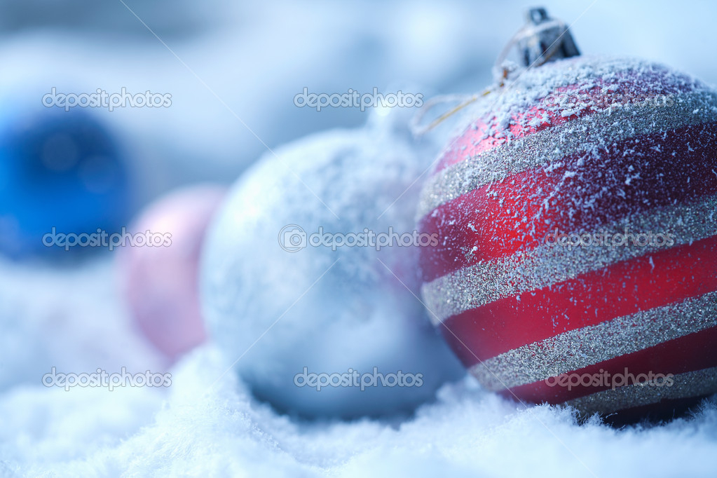 Christmas ornament on  blured background — Stock Photo #5779359