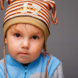 Portrait of a serious little boy — Stock Photo