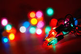 Various holiday lights — Stock Photo
