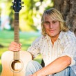 Caucasian guitar player — Stock Photo #5453455