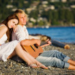 Romantic caucasian couple - Foto de Stock
