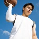 Asian basketball player — Stock Photo