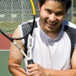 Young asian tennis player — 图库照片