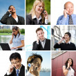 Business talking on the phone — Stock Photo